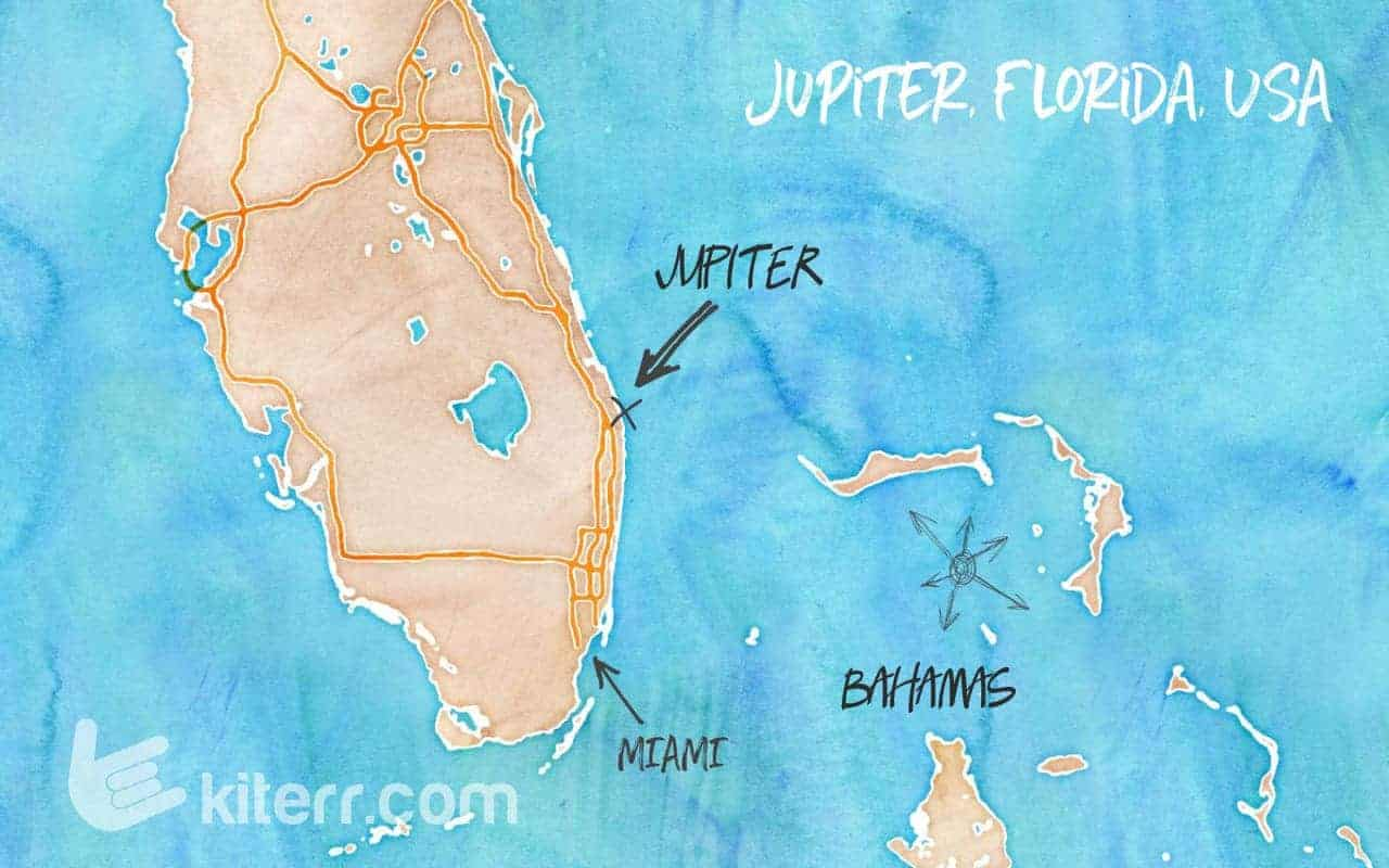 The best kitespots in Jupiter, Florida, USA // Kiterr.com
