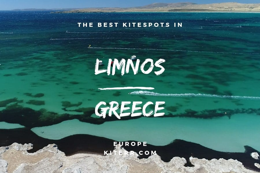 The best kiteboarding spots in Limnos, Greece - Guide & Map // Kiterr.com